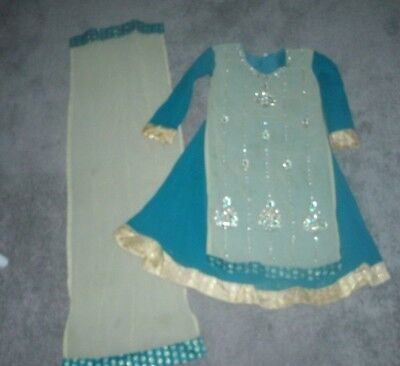 LOVELY  BEADED OUTFIT FROM INDIA OR PAKISTAN'   ' FITS 7-8 YEARS OLD ' SIZE 34