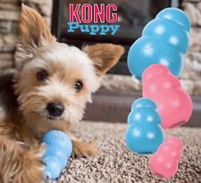 Kong Puppy Rubber Teething Chew Toy - Small Medium Large Treat Dispenser