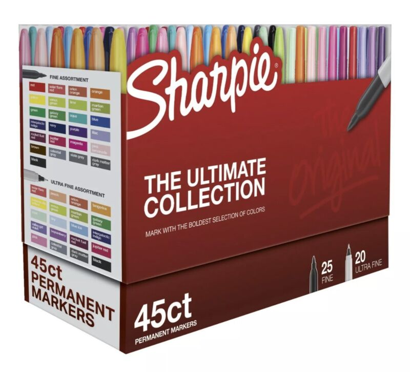 Sharpie Ultimate Pack, Fine and Ultra Fine Tips, Assorted, Set of 45