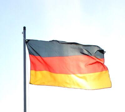 Fahnenmast 5,95 m Flaggenmast stabiles Stahl-Steckrohr Ø 42 mm inkl. Flagge