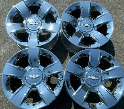 Four 2018 Chevy Silverado Tahoe Factory Chrome 20 Wheels OEM Rims 5651 20937967