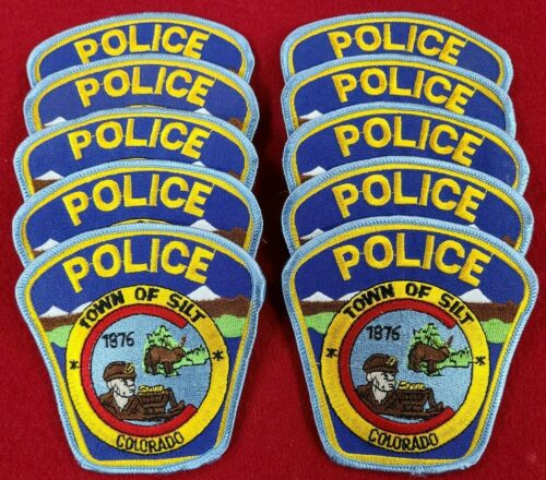 SILT COLORADO CO Trade Stock 10 police patches POLICE PATCH