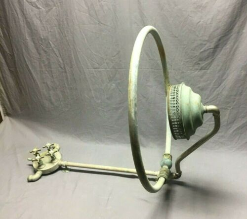 Antique Shower Head Ring Faucet Valve Mixer Nickel Brass Vtg Bathtub Old 357-19J