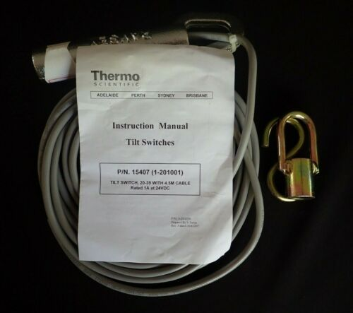 THERMO SCIENTIFIC 15407 (1-201001) TILT SWITCH MODEL 20-39 WITH 4.5M CABLE NEW