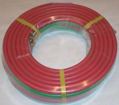 14 X 25 Grade R Twin Welding Hose W B-size Fittings For Oxygen Acetylene