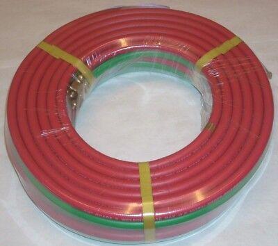 14 X 25 Grade R Twin Welding Hose W B-size Fittings For Oxygen Acetylene