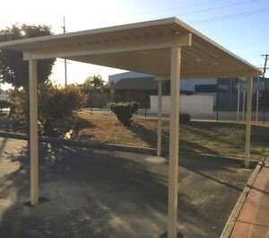 Carport Kit – High Gloss Colour – Freestanding 5.5x3.15m - Easy Installation