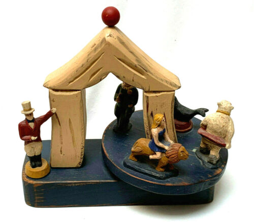 Vintage Wolf Creek Wooden Musical Circus Carnival