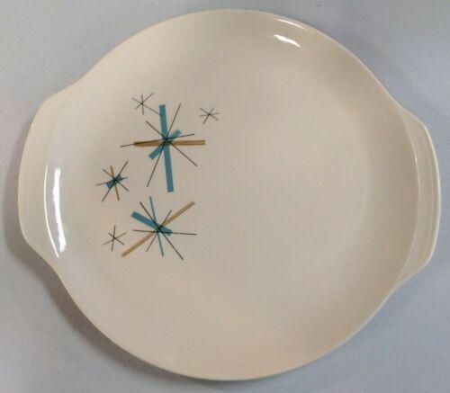 North Star Vintage Hopscotch Starburst Salem Cake Plate Platter Handles (#2)