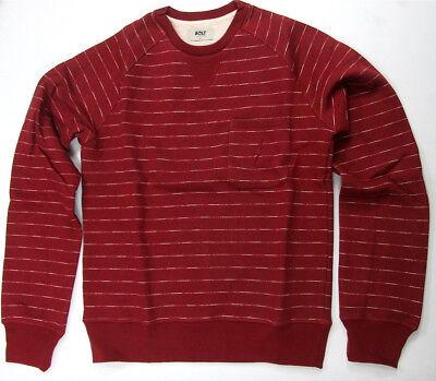 Lightning Bolt Long Sleeve Crew Neck Sweater Pompeian Red Stripe Surf Bolt ()