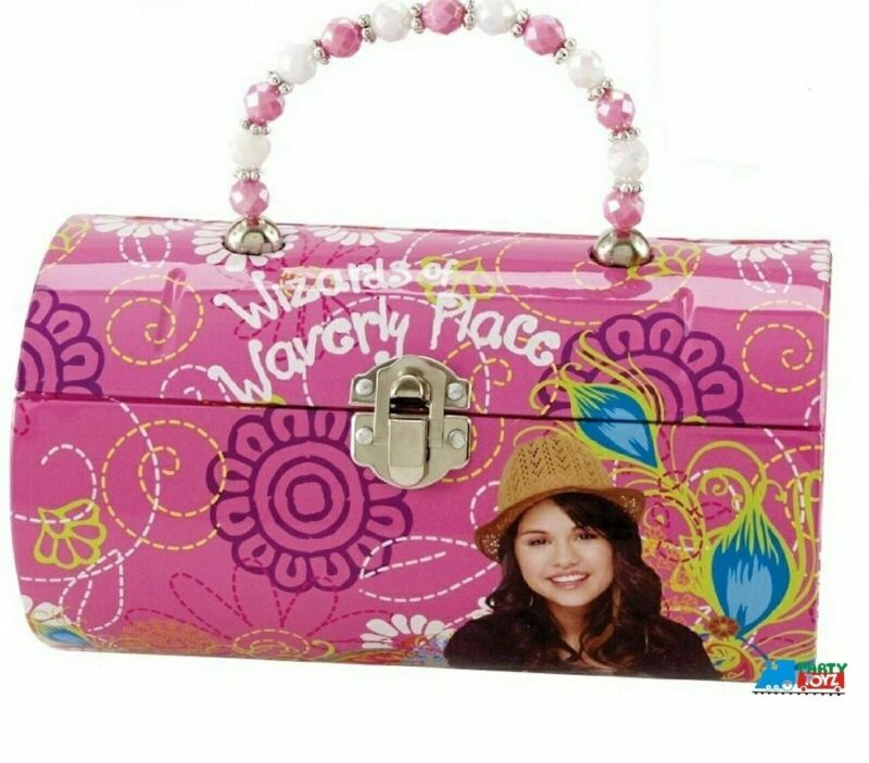 Wizards of Waverly Place Round Carry All Tin Box - Light Pink