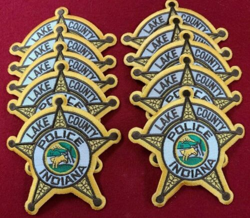 LAKE COUNTY INDIANA IN Trade Stock 10 police patches POLICE PATCH