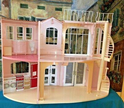 Barbie 3-Story Dream House By Mattel 2006, Foldable + Furniture & Accessories