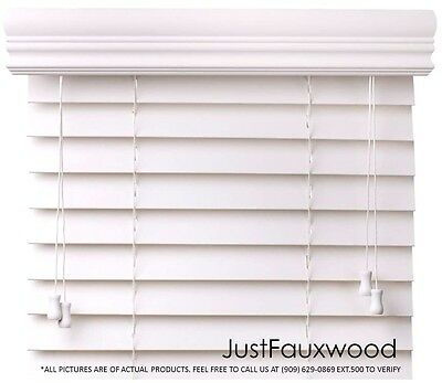 Cbc 2  Faux Wood Blinds White Custom Width 10  96  X Height 36  96    Free Ship