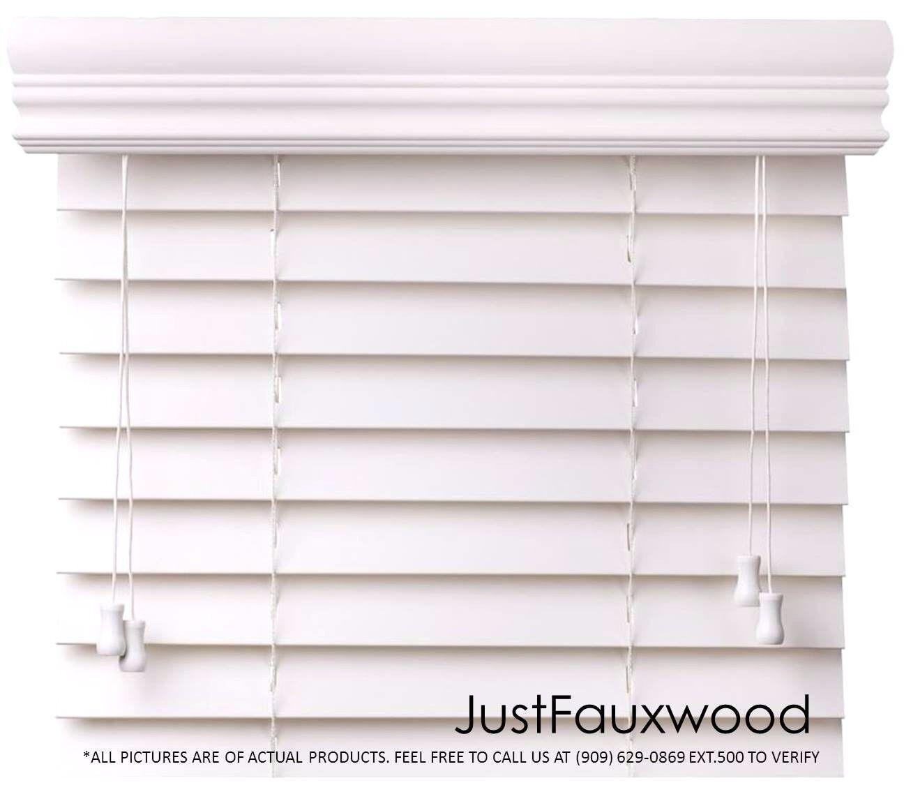 2 faux wood blinds white custom width