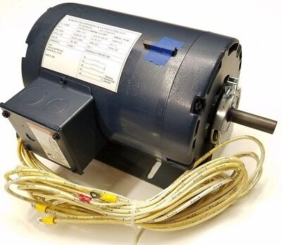 2 Hp Electric Motor 3 Phase Ac 1725 Rpm 208230v 56h Frame Continuous Duty Usa