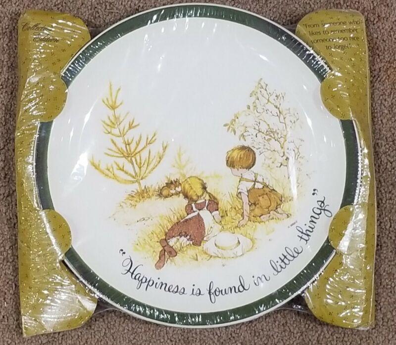 "Vtg American Greeting HOLLY HOBBIE Collectors Plate happiness NIB 10.25"" WALL"