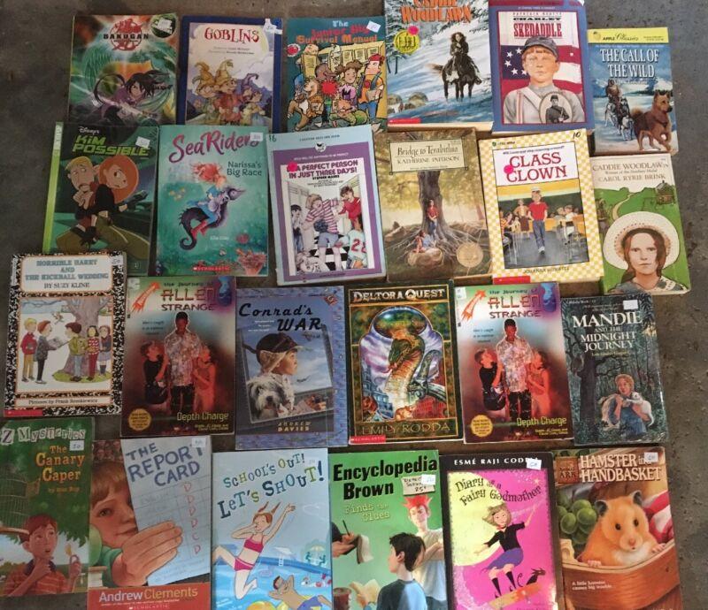 Lot of 30 Children's Kids Chapter Books Instant Library Random G - VG Scholastic