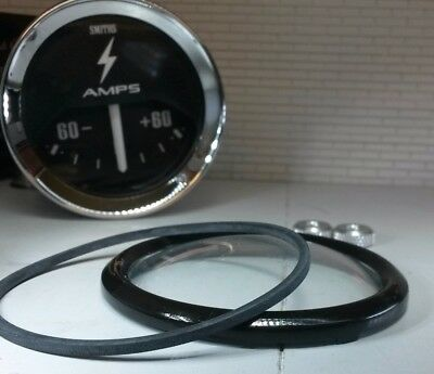 Auxiliary Jaeger Smiths Gauge Reconditioning Kit Domed Glass Black V Bezel 2