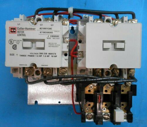CUTLER-HAMMER A210M1CAC REVERSING MOTOR CONTROLLER SIZE 1 NEW SURPLUS