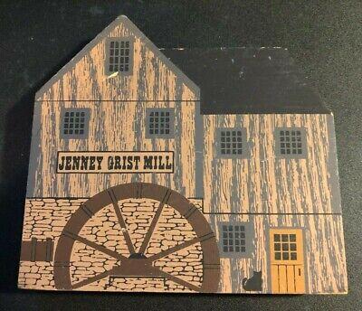 JENNEY GRIST MILL Cat's Meow Wooden Shelf Sitter 1988 TRADESMAN SERIES Jaline 90