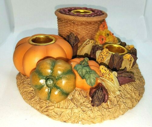 Harvest Holiday Collection Candlestick Holder by Artisan Flair, Inc.