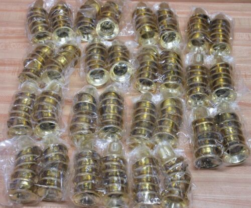 """Wholesale Lot of 180 Gold 1-1/2"""" Plastic Bells Christmas Holiday Crafts Supplies"""