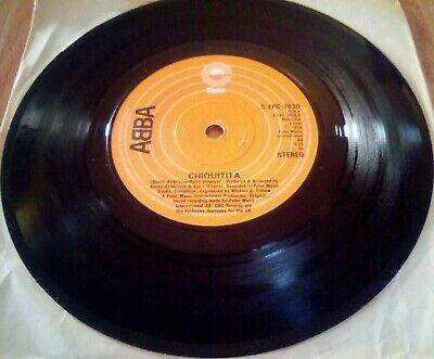 """ABBA - Chiquitita - 7"""" inch  Vinyl Record Single 1978 vgc"""