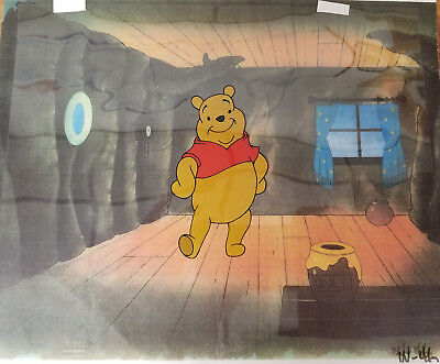 Winnie the Pooh Original Production Cel with Printed Background