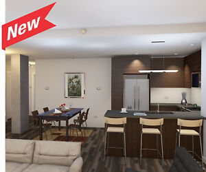 2BR, Stone Countertops, Stainless Steel Appliances, Clean Design