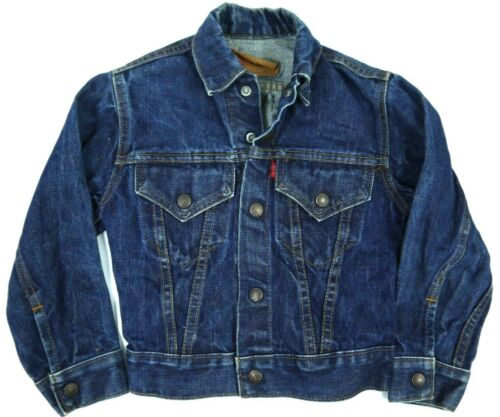 VINTAGE LEVIS BIG E TRUCKER JACKET TYPE III 3 MADE IN USA KIDS BOYS YOUTH