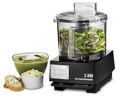 Waring Wfp11sw 2.5 Quart Food Processor With S-blade And Whipping Disc