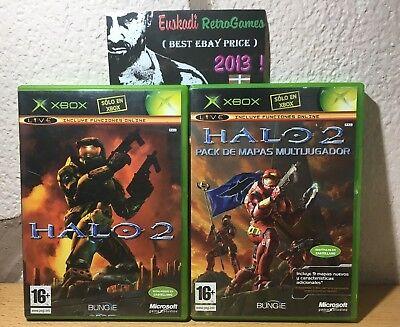 Pack : Halo 2 + Multiplayer Pack / XBOX / Completo - Pal Esp. segunda mano  Vitoria-Gasteiz