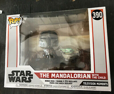 Funko Pop Star Wars Moment The Mandalorian Mandalorian and Child RARE #390
