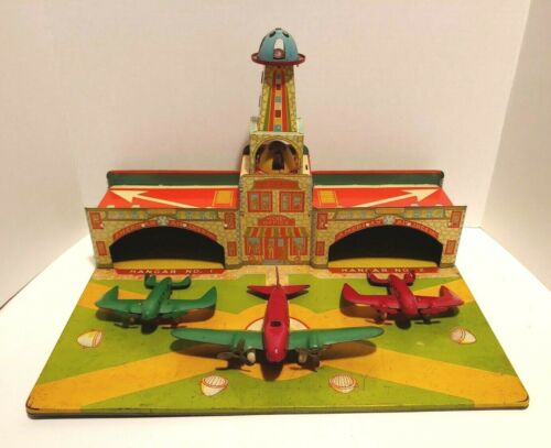 1937 Wyandotte American Airlines Airport Terminal with Original 3 Planes