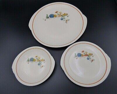 Edwin M Knowles China - Set of 3 Plates