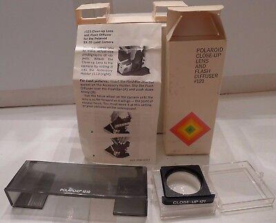 Polaroid Instant SX-70 Camera Close-Up Lens Accessory #121 & Flashbar Diffuser