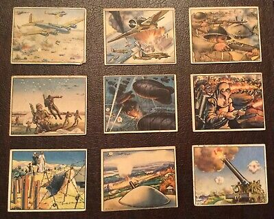 1939 Gum Inc . World In Arms - Lot Of 9 (Arm Inc Collections)