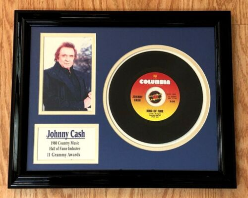 RARE Johnny Cash RING OF FIRE Country Music Hall of Fame Framed Memorabilia