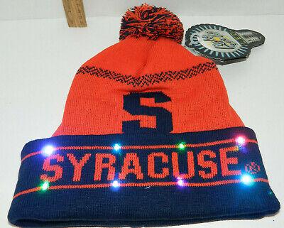 SU Syracuse Orange 'Cuse Team LED Light up Hat Winter Pom Beanie Knit Christmas ()