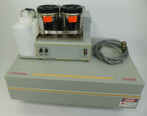 Continuum ND6000 Tunable Dye Laser w/ DCP 6000 Dye Circulator Pump OSC / AMP