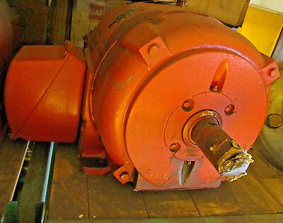 40 Hp Crane Motor Rebuilt Westinghouse Double Shaft