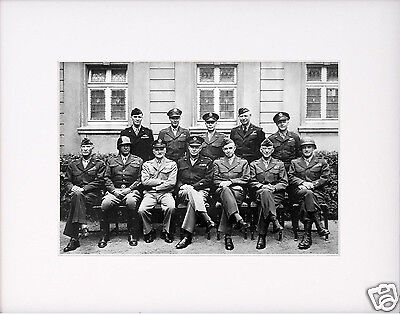 Generals Eisenhower Patton Allied World War 2 Wwii Large Matted Photo Picture