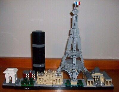 EUC ARCHITECTURE LEGO SET #21044 PARIS, FRANCE   * COLLECTORS SET*