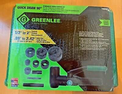 Greenlee 7906sb Quick Draw 90 Hydraulic Punch Driver Set - New