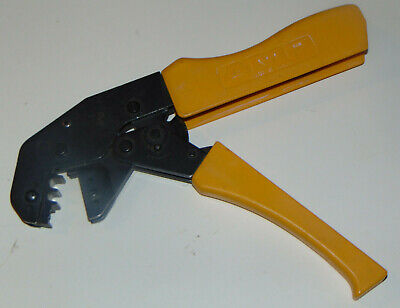 Amp Crimping Tool Amp 502834-1 Needs Dies Works Smoothly Ratcheting Save