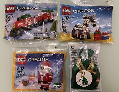 LEGO Christmas Lot Creator Train 30543 Santa 30478 Reindeer 30474 Tree5003083