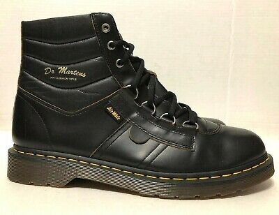 Ring Cushion Boots (Dr Martens Kamin Hiking Boots Black Leather D-Ring Mens 1095193 Size)