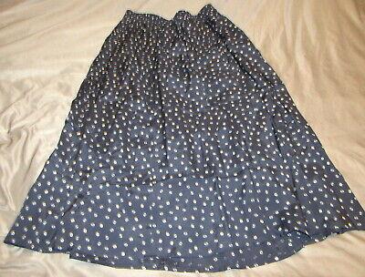 Elisabeth Liz Claiborne Midi A Line Skirt Women's Size 14 Elastic Waist Black