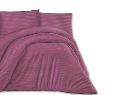 Exklusiv Set 180x200cm Satin Baumwolle Bettwäsche Bettgarnitur 3tl, rosa